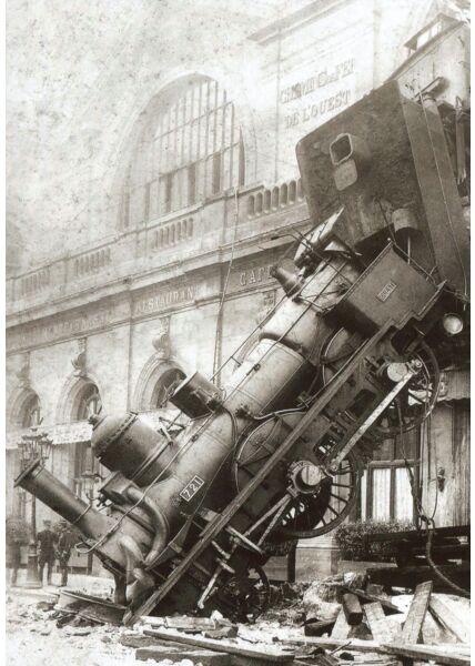 Nostalgie Retro Postkarte Gare du Nord 1895