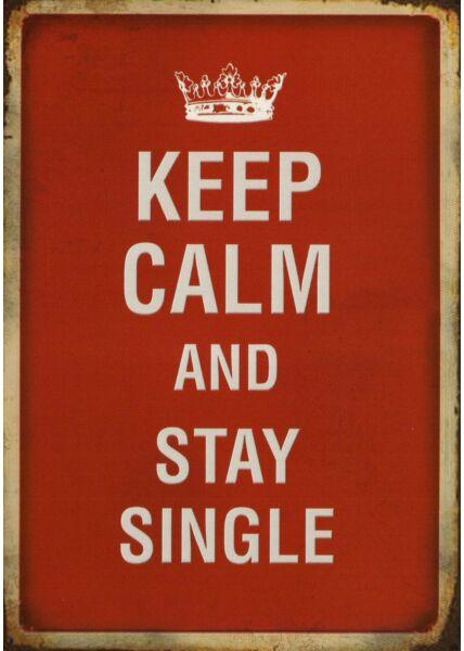Postkarte lustig Spruch Keep calm and...