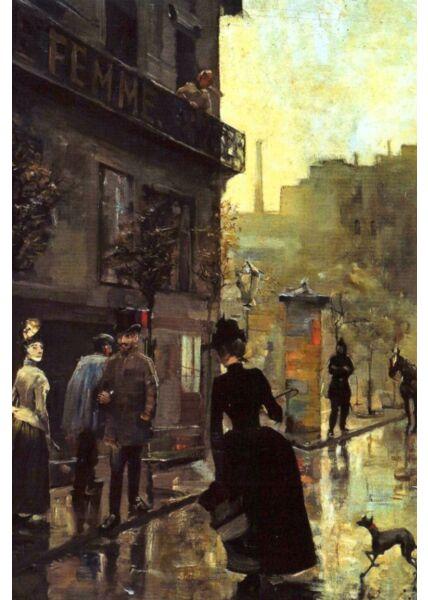Kunst Postkarte Akseli Gallen-Kallela - Boulevard in Paris