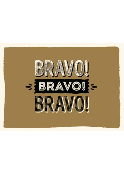 Postkarte Spruch Bravo Bravo Bravo