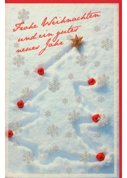 Weihnachtsgrußkarte Schnee veredelt