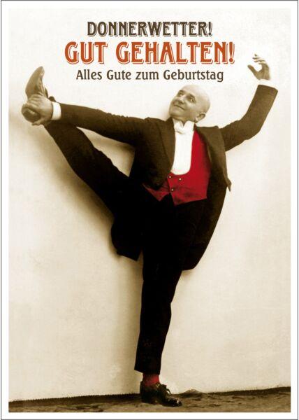 Postkarte Spruch witzig Donnerwetter! Gut Gehalten! Alles Gute zum Geburtstag