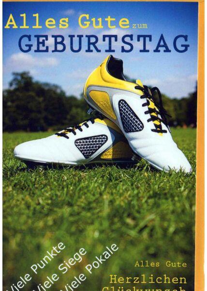 Geburtstagskarte Mann: Fußballschuhe