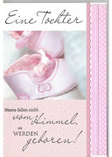 Glückwunschkarte Mädchen Geburt Spruch Sterne