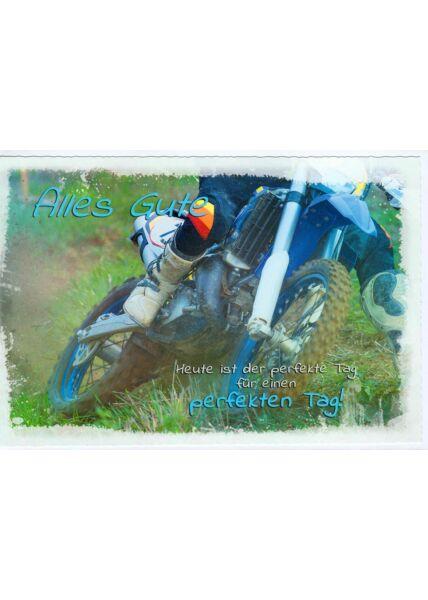 Karte Geburtstag Cross Motorrad