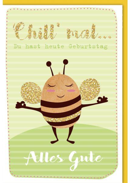 Geburtstagskarte lustig Entspannte Hummel