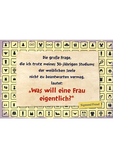 Postkarte Sprüche Sigmund Freud