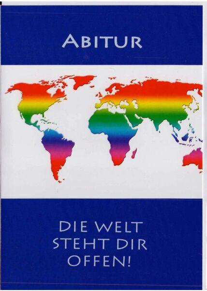 Karte Abitur: Weltkarte bunt