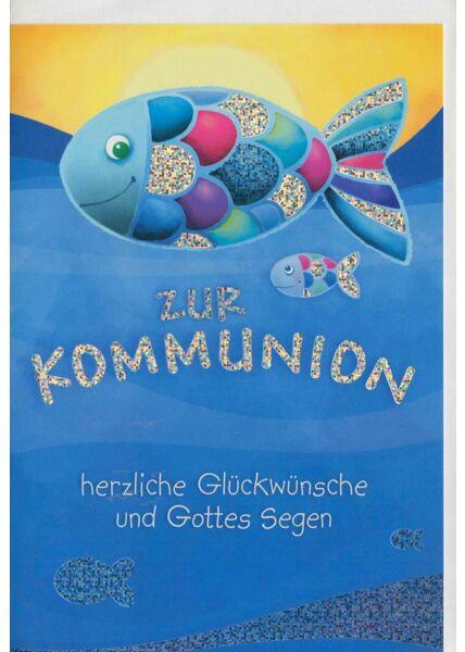 Grußkarten zur Kommunion Fische