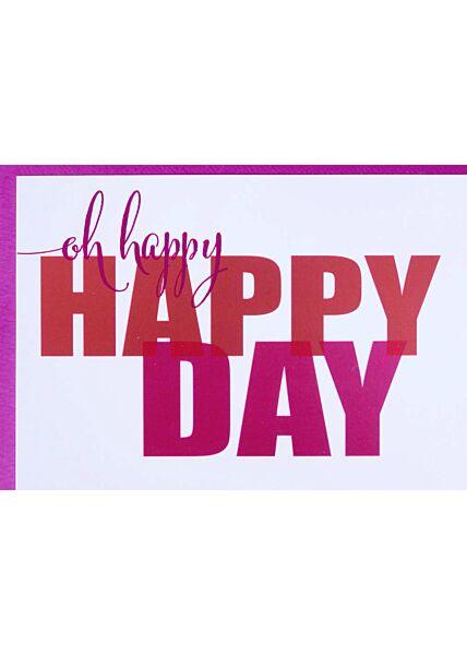 Design Geburtstagskarte oh happy happy day