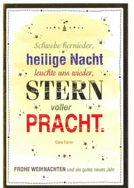 Weihnachtskarte hochwertig Stern voller Pracht
