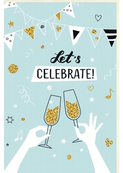 Geburtstagskarte Frauen Let´s Celebrate