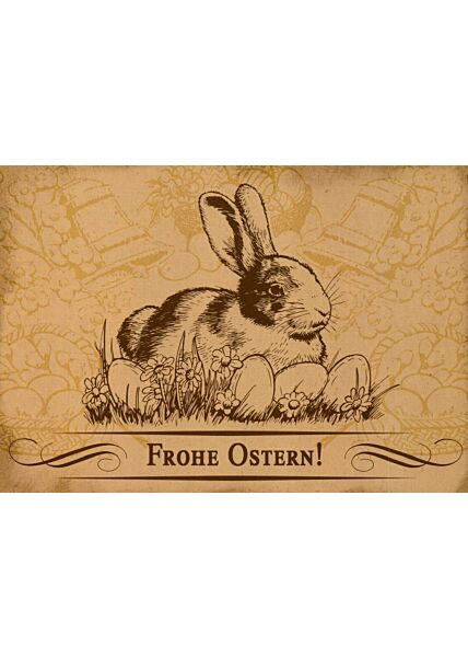 Osterpostkarte Frohe Ostern