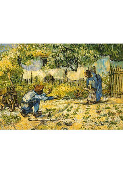 Kunstkarte Vincent van Gogh - Erste Schritte