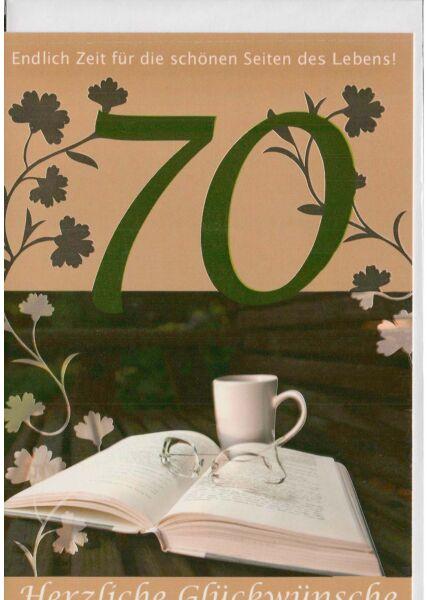 Geburtstagskarte 70 endlich Zeit für die schönen Seiten des Lebens