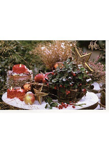 Blanko Weihnachtskarte Foto Tisch Garten