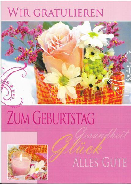 XXL Maxi Geburtstagskarte für Frau vonn Kollegen