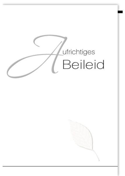 Trauerkarte Trauer Buchenblatt