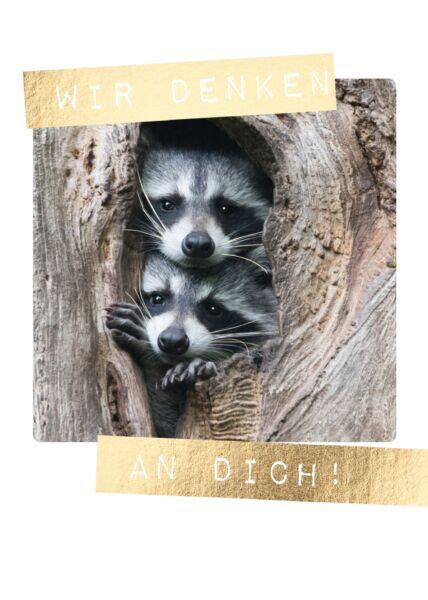 Postkarte Spruch wir denken an Dich