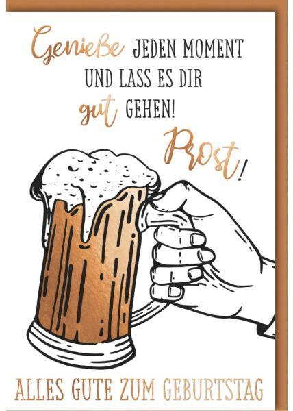 Geburtstagskarte Männer Gefülltes Bierglas