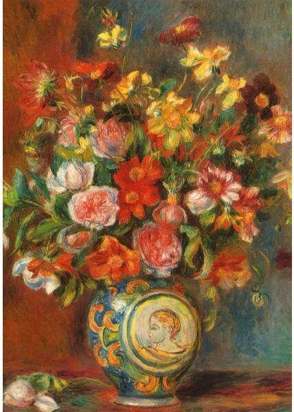 Kunst Postkarte Auguste Renoir - Blumenstrauß