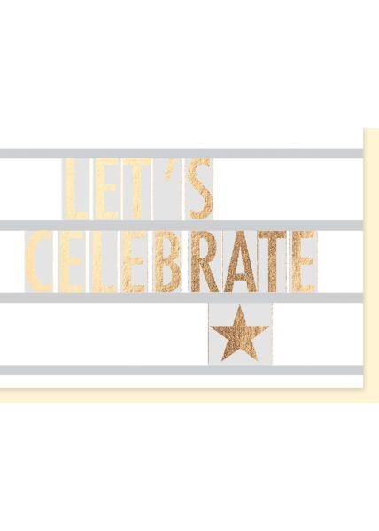Glückwunschkarte: Let's celebrate