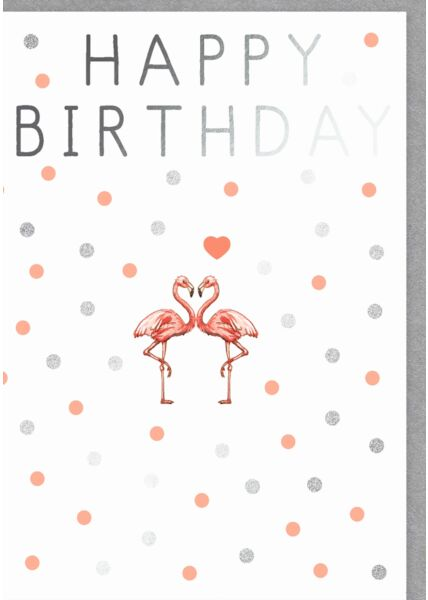 Karte Geburtstag Happy Birthday Flamingos