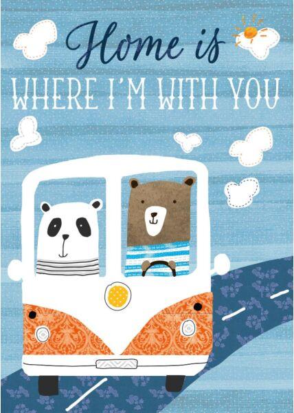 Postkarte Liebe Home is where I'm with you