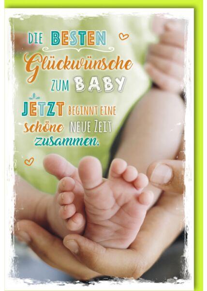 Karte Geburt Baby Die besten Glückwünsche zum Baby. Jetzt beginnt eine schöne neue Zeit