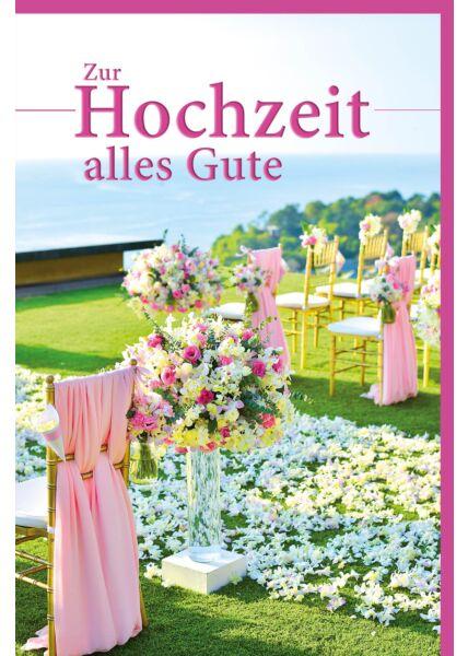 Glückwunschkarte Hochzeit freie Trauung Zur Hochzeit alles Gute