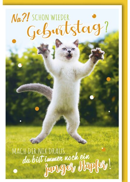Geburtstagskarte lustig Junger Hüpfer