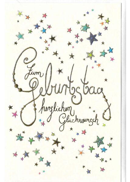 Glückwunschkarte Geburtstag hochwertig: Sterne