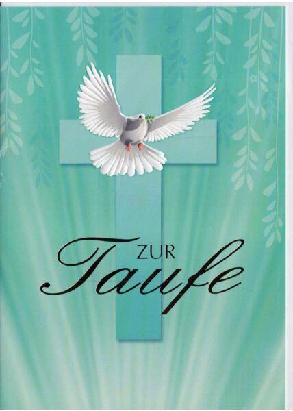 Glückwunschkarte zur Taufe türkis
