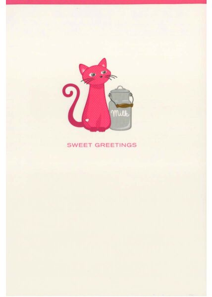 Grukarte liebevoll Katze: Sweet Greetings