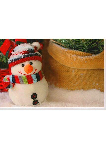 Weihnachtskarte Foto Schneemann klein