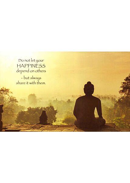 Postkarte englisch Text Share Happiness