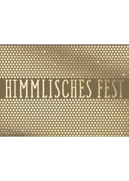 Weihnachtspostkarte HIMMLISCHES FEST