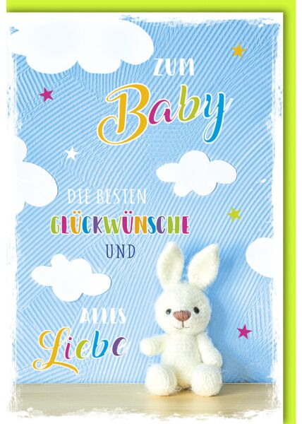 Glückwunschkarte zur Geburt Die besten Glückwünsche Hase