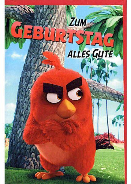 Geburtstagskarten für Kinder Angry Birds, Vogel rot