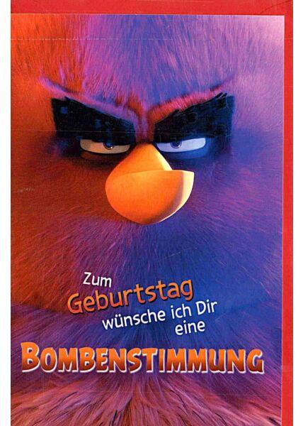 """Geburtstagskarten für Kinder Angry Birds """"Bombenstimmung"""""""