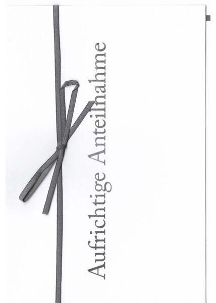 schöne Trauerkarte mit Schleife