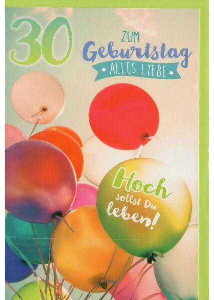 Karte 30 Geburtstag alles Liebe
