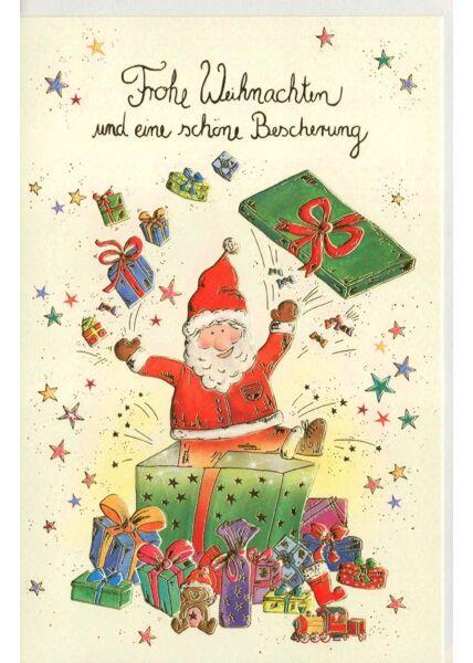 Weihnachtskarte Nikolaus Naturkarton premium