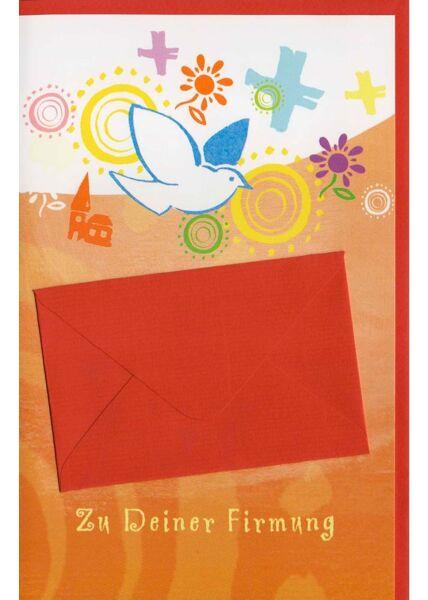 Glückwunschkarten zur Firmung Glückwunschkarte Firmung mit Geldumschlag