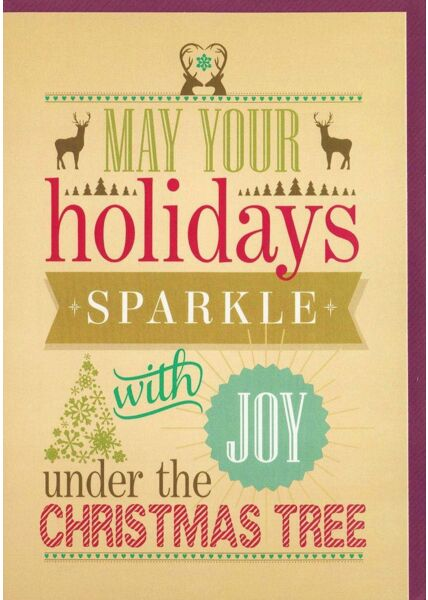 Weihnachtsgrußkarten Weihnachtsgrußkarte englischer Spruch originell modern