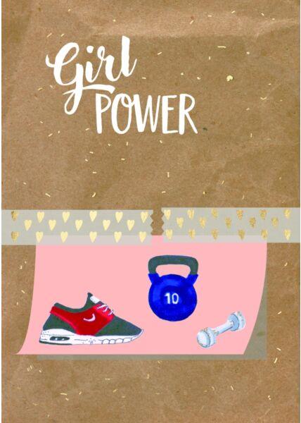 Frauenpostkarte Spruch Girl Power