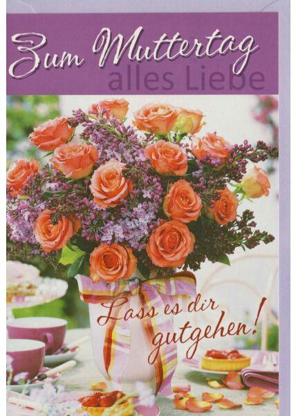 Liebevolle Muttertagskarte: Lass es Dir gutgehen!