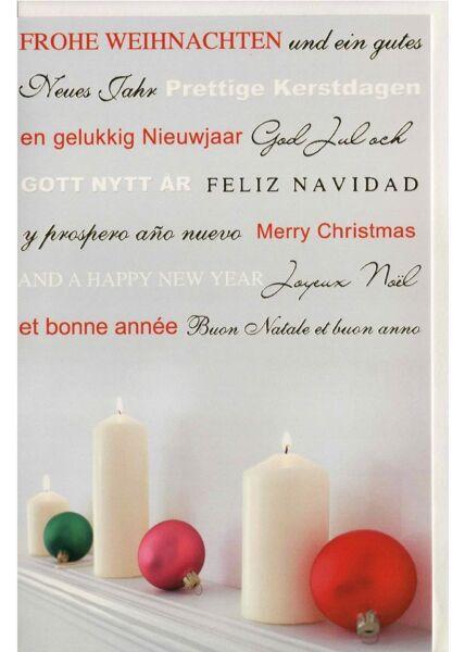 Weihnachtsgrußkarte internationale Weihnachtsgrüße