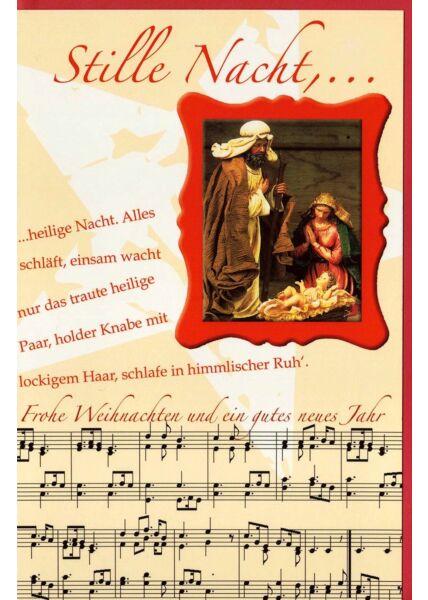 Stille Nacht, heilige Nacht Weihnachtskarte