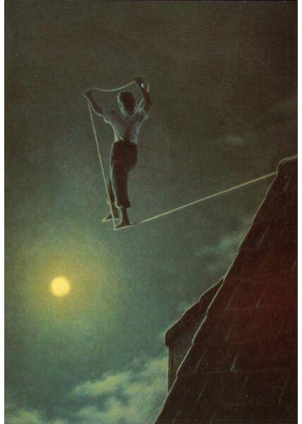 Postkarte lustig Traumtänzer